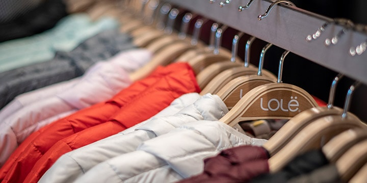 rack of colour jackets